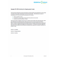 Sample  PS - TRE Activity for Employment Goals
