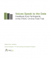 Voices Speak to the Data: Feedback from Participants in the PIAAC On-line Field Trial