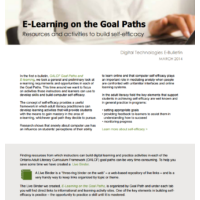 E-Learning on the Goal Paths