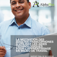 The Motivation of Francophone Adults to Use Assistive Technologies for Workplace Learning